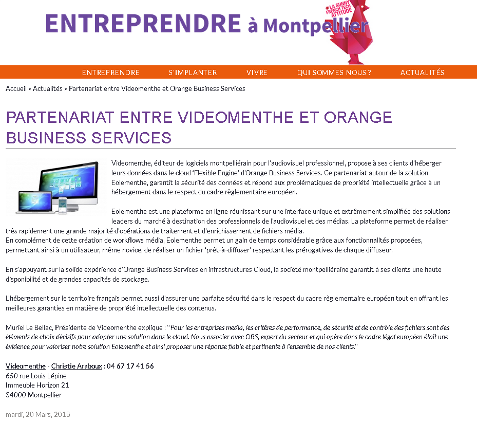 Entreprendre march 2018